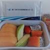 ◆フライト&機内食レポート2017.01◆厦門航空◆エコノミークラス◆厦門→香港◆機内食にフルーツミールをリクエスト◆