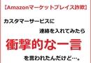 【衝撃的な一言】Amazonマーケットプレイス詐欺に遭ったので、カスタマーサービスに連絡を取ってみたらあり得ない返答をされた…。