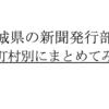 【2019年】宮城県の新聞発行部数を市政別にまとめてみた。