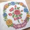【3色塗り】(レース・リボン編)ダイソー塗り絵「花の国」を赤・青・黄の色鉛筆3色で塗ってみた