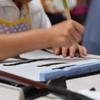 小学4年生の娘が習字教室を見学して日本習字を習い始めました