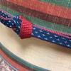 【着物コーディネート帖】更紗模様の紬着物に、紬の京袋帯を合わせてみる。