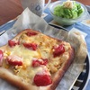 ポテサラピザとアジフライ