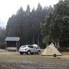 雨のち雪のソロキャンプ@三国公園鳥羽キャンプ場