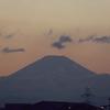 夕焼け「富士山」。