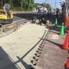 歩道の工事