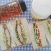 ミルク食パンで、チキンカツサンド&野菜サンド。