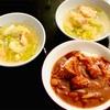 おうちごはん ハヤシライス・サーモンとキャベツとネギのスープ