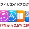 iTunesアフィリエイトのコミッション料率が日本だけ2.5%に下がる件について思うこと