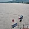 「メコン川」のそれぞれの光景~チェンセーンにて朝方、昼間、雨上がりの午後、夕刻、日の入り。。。