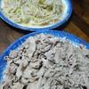 豚肉の炒め物と野菜炒め