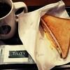 【タリーズコーヒー】モーニングでホットサンド