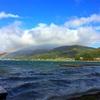 木崎湖に遊びに行ったら爆風だったよー。でも超綺麗な虹が見れたよ。