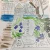 森のピザ工房  ルヴォワールの腹帯分校の水彩画