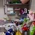 キッチンの床置きをなくすために、調理台上の吹き溜まりを片付ける。&テレビボード上の片付け