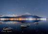白鳥と富士山と冬の星座