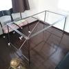 DIY ダイニングテーブル(ヘリンボーン)2/2 鉄脚編