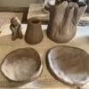 陶芸で粘土遊び