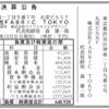 株式会社FABRIC TOKYO 第6期決算公告 / 減資公告