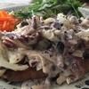 トレビスと鶏さんのフリカッセ マスタード風味 タルティーヌ仕立て