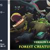 Forest Creatures Pack ちょっと可愛い世界観の手描き風クリーチャー11体+色違いのローポリ3Dキャラモデル