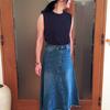 大人が履けるデニムスカート|ジーンズからリメイクした風のヴィンテージスカート