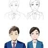 従業員向け『自分達がオリジナルアニメショーンのキャラクターになる』イラストサービスを始めました。