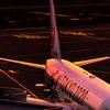 羽田空港第一ターミナルからの夕景 富士山は出るのか?