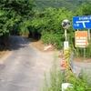 大野バス停付近の道
