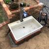 【お庭づくり】#08 立水栓の水受けパン