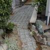 玄関ポーチ土間改装1-1(コンクリートから→レンガ敷き込み仕上げ)