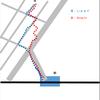 Googleマップで自宅から駅までの道をルート検索した結果