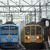 2021『びわこ京阪奈』HM <Ⅳ> 列車交換再び (近江鉄道:2021.3/21)