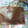 古い牛革鞄を自分で染め直してみた re-dying my old leather bag