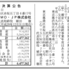 TSUMO・JP株式会社 第11期決算公告 / ピーチジョン創業家の野口卓也氏によるメンズ化粧品ブランド