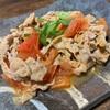 夏野菜のトマトを使った豚バラの味噌バター炒め