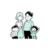 家族イラスト描きました。  8月31日は早く寝たほうがよさそうです。