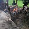 焚き火ステーキ頂上決戦〜雷雨の中のメガグリルドポーク