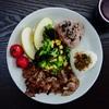 パパのワンプレート朝ごはん〜簡単!万能調味料ニンニク大葉味噌のレシピ、平野レミさんのシソ味噌レシピ〜