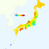Rate of Deaths from Malignant Lymphoma by Prefecture in Japan, 2015