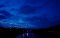 鴨川から見える稜線が好きだ #きょうの京都