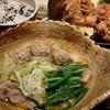 鴨鍋に鶏のから揚げ。大戸屋にて。