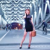 「上海灘」上海浦西蘇州河の鉄橋で夜のチャイナドレスポートレート撮影会