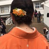 【つまみ細工】小学校卒業式の謝辞を頑張ったママ友!!