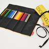 持ち運びやすい布製ロールケース入りの色鉛筆を持って旅に出よう!