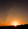 青山高原に沈む太陽