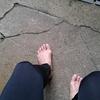 裸足で愛宕山を登ってみました