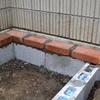 DIYで庭づくり 花壇の作り方その3 囲いレンガの積み上げ