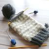 余り毛糸で編む靴下2足目、編み始め