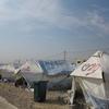 シリアから国境を越えイラクの難民キャンプへ
